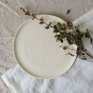 Hand Thrown Ceramic Pottery Dinner Plate - kitchen