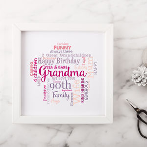 Personalised 90th Birthday Gift For Her