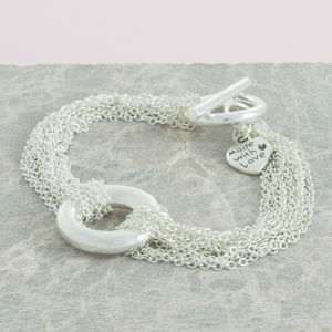 Chains And Circle Bracelet