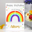 Personalised Rainbow Age Birthday Card