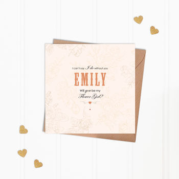 Personalised Will You Be My Flower Girl Greeting Card