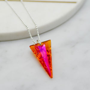 Crystal Spike Pendant - party wear & accessories