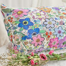 Silk Pillowcase 'Paint By Flora'