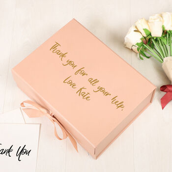 Personalised Luxury Rose Gold Thank You Gift Box