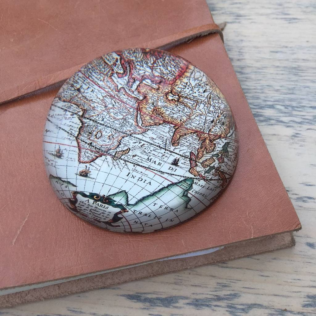 Vintage World Map Paperweight