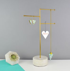 Personalised Marble And Brass Jewellery Stand - jewellery storage & trinket boxes