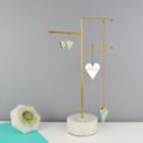 Personalised Marble And Brass Jewellery Stand