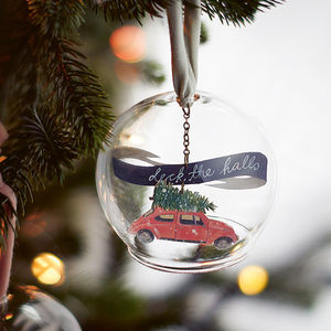 Christmas Car Glass Decoration - christmas decorations