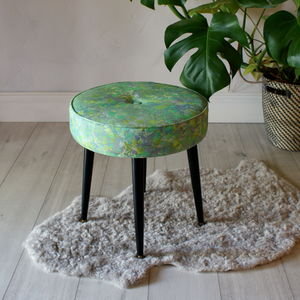 British Made Marble Footstool - dining room