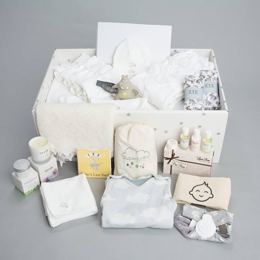 luxury baby box with new baby gift set by british baby box ...