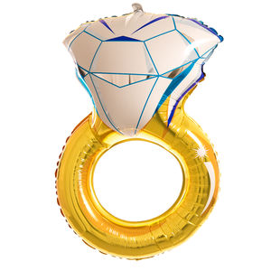 Inflated Engagement Ring Foil Balloon