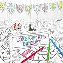 Colour In Tablecloth Knights Maidens *Personalise It