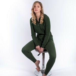 100% Cashmere All In One Hooded Jumpsuit Onesie - lounge & activewear