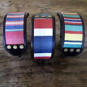 Striped Lurcher Collar - dog collars