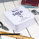 Personalised Shed Storage Tin