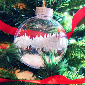 Personalised Sound Wave Christmas Bauble