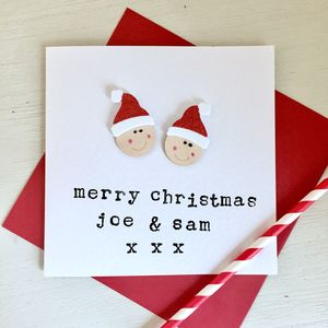 Personalised Christmas Santa Card - christmas cards