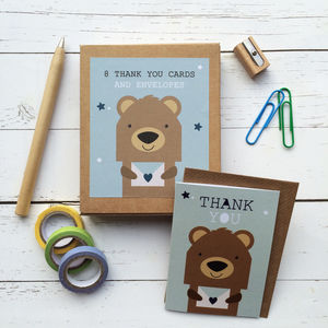 Children's Mini Thank You Cards Bear