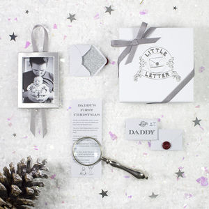 Personalised Daddy's First Christmas Keepsake Gift