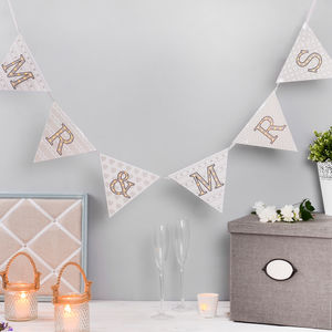 Mr And Mrs Light Up Bunting - decorative accessories