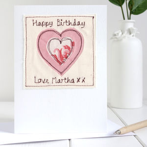 Personalised Embroidered Heart Card - shop by category