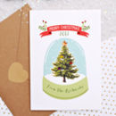Personalised Snowglobe Christmas Card With Diamantes