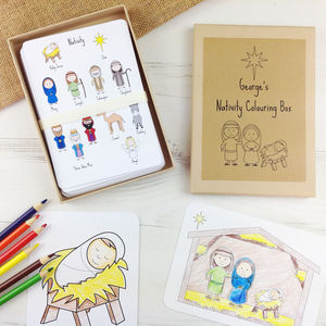 Nativity Colouring Box