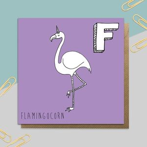 Flamingo Unicorn Card