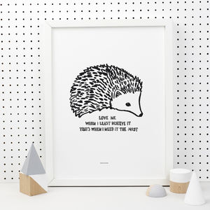 Hedgehog Love Print
