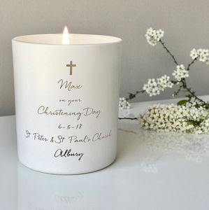 Personalised Christening Candle - candles & home fragrance