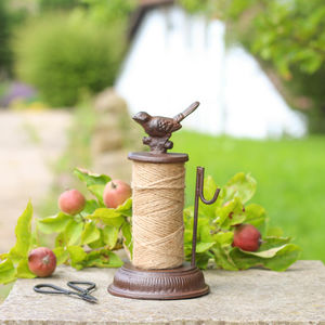 Vintage Garden Cast Iron Twine Dispenser - stocking fillers for him