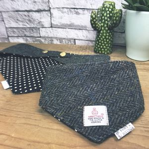 Harris Tweed Bandana Black/Blue