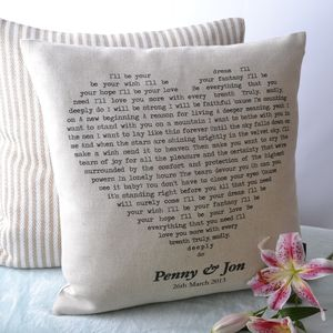 Personalised Song Cushion Cover - view all anniversary gifts