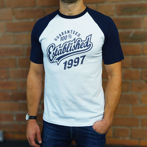 'Established' Birthday T Shirt Personalised Years - personalised gifts