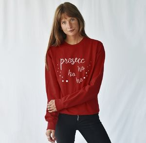 Prosecco Ho Ho Ho Christmas Sweatshirt Jumper - more