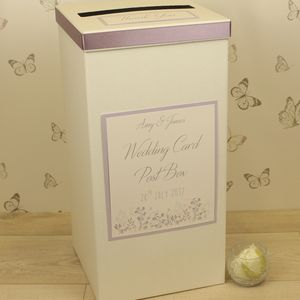 Personalised Emma Wedding Post Box - wedding post boxes