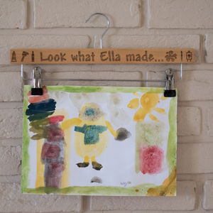 Personalised Art Hanger For Displaying Childrens Art - wall hangings for children