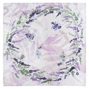 Marble, Bee Print Square Silk Scarf