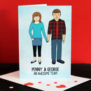 Valentine's Day Couple Portrait Card