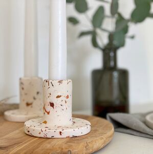 Autumn Terrazzo Eco Resin Candle Stick Holder