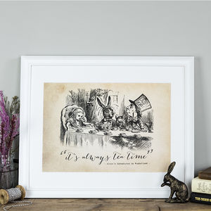Alice In Wonderland 'Tea Time' Poster Print - baby & child sale