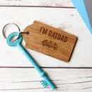 Batdad Bamboo Key Ring