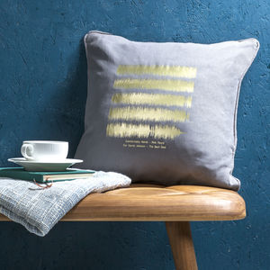 Personalised Sound Wave Cushion - gifts from adult children