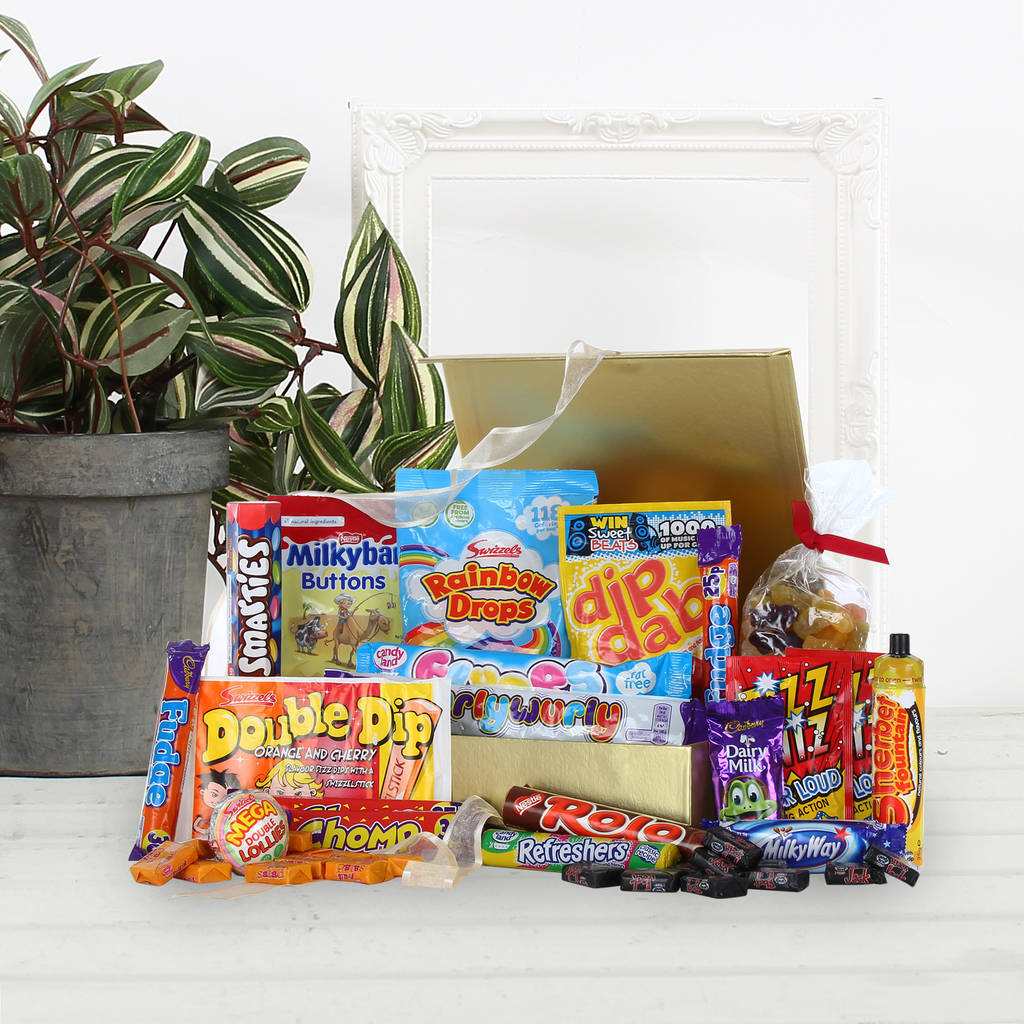 Tear And Share Retro Sweets Gift Hamper
