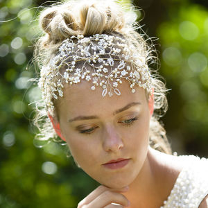 Chantilly Headdress - bridal hairpieces