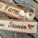 Personalised Natural Wood House Names