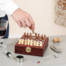 Luxury Personalised Chess Set With Wine Tools