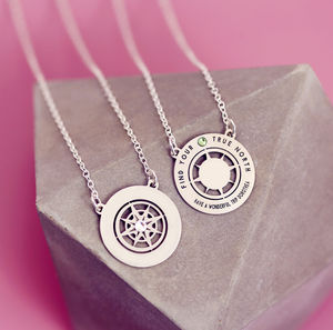 Graduation Necklace Double Sided Personalised Compass - graduation gifts