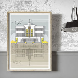 Hoover Building Architectural Illustration Print - drawings & illustrations