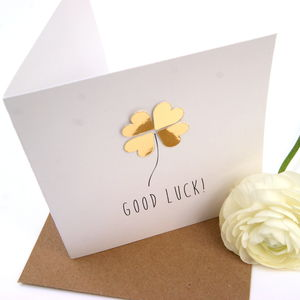 Good Luck Card Luxe Gold - shop by category